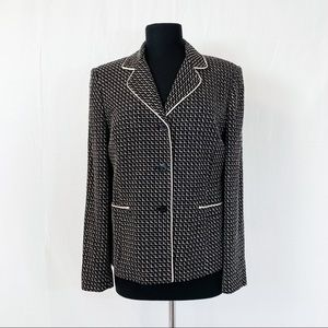 Talbots Size 10 Blazer Jacket Long Sleeve